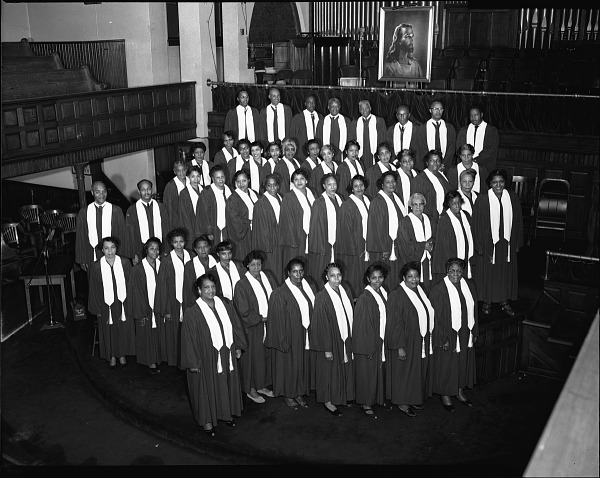 Image for Vermont Avenue Baptist Church Gospel Chorus, October 1956 cellulose acetate photonegative