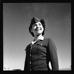 [African American woman in military uniform] [cellulose acetate photonegative]