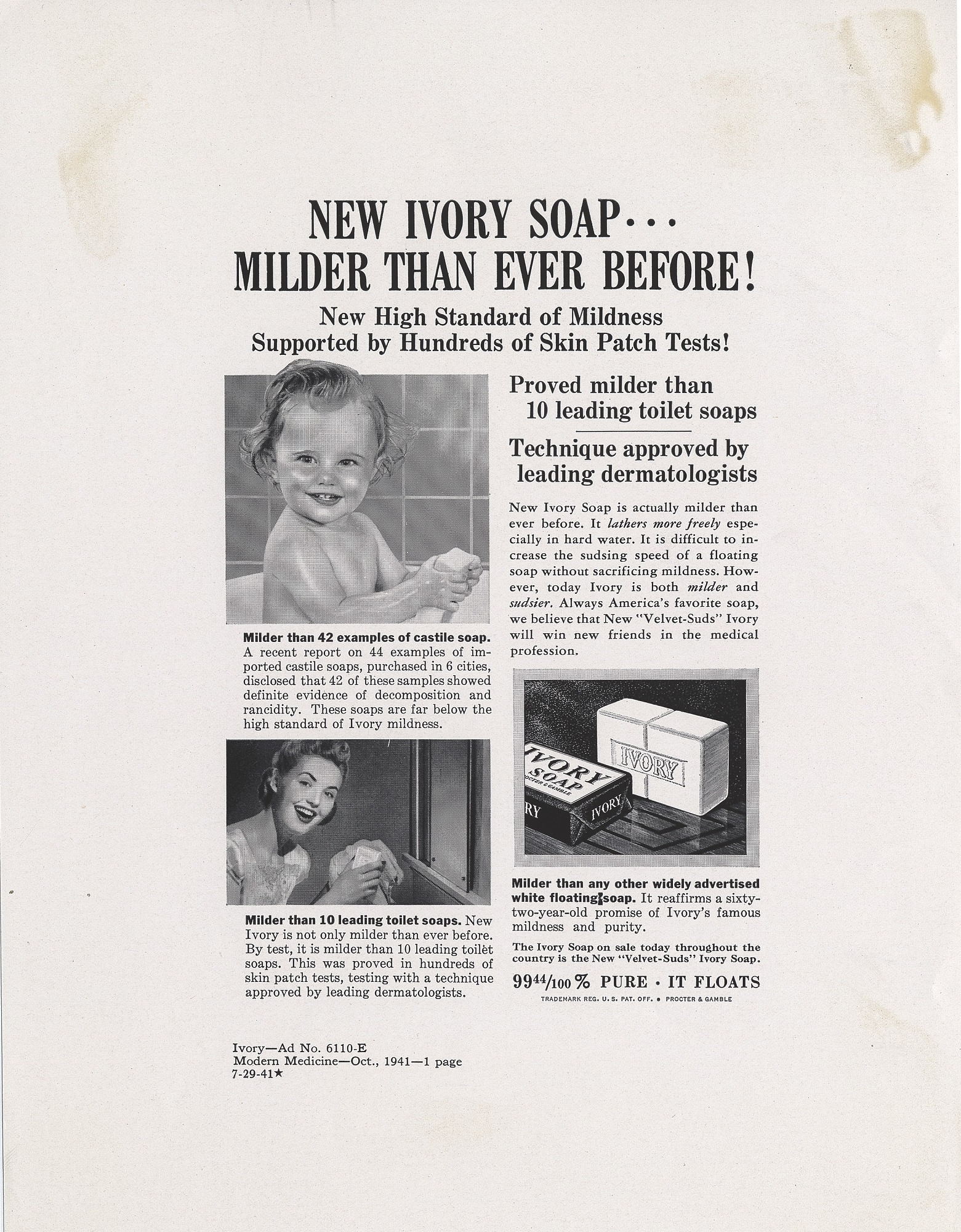 Resources :: New Ivory Soap  Milder Thank Ever Before! [Print