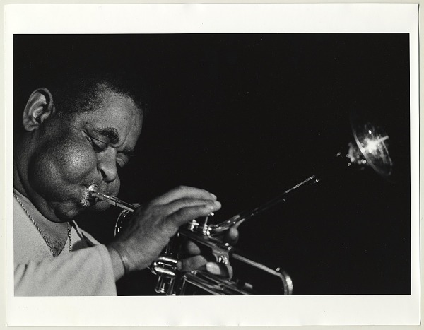 Dizzy Gillespie [ca. 1984-1990 : black-and-white photoprint]