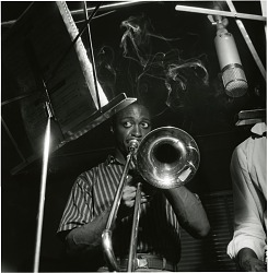 The Opener [Curtis Fuller] [black-and-white photoprint], June 16, 1957