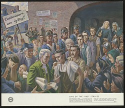 One of the First Union Strikes