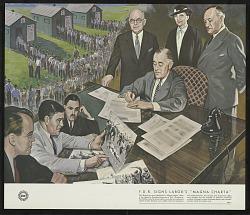 FDR signs Labor's Magna Charta
