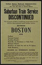 Suburban Train Service Discontinued