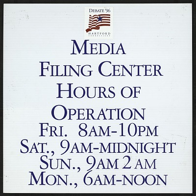 Media Filing Center Hours of Operation ......