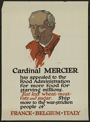 """""""Cardinal Mercer Has Appealed To The Food Administration"""""""