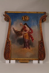 """""""Hebe Giving Support to the Bald Eagle"""" Fire Engine Panel Painting"""