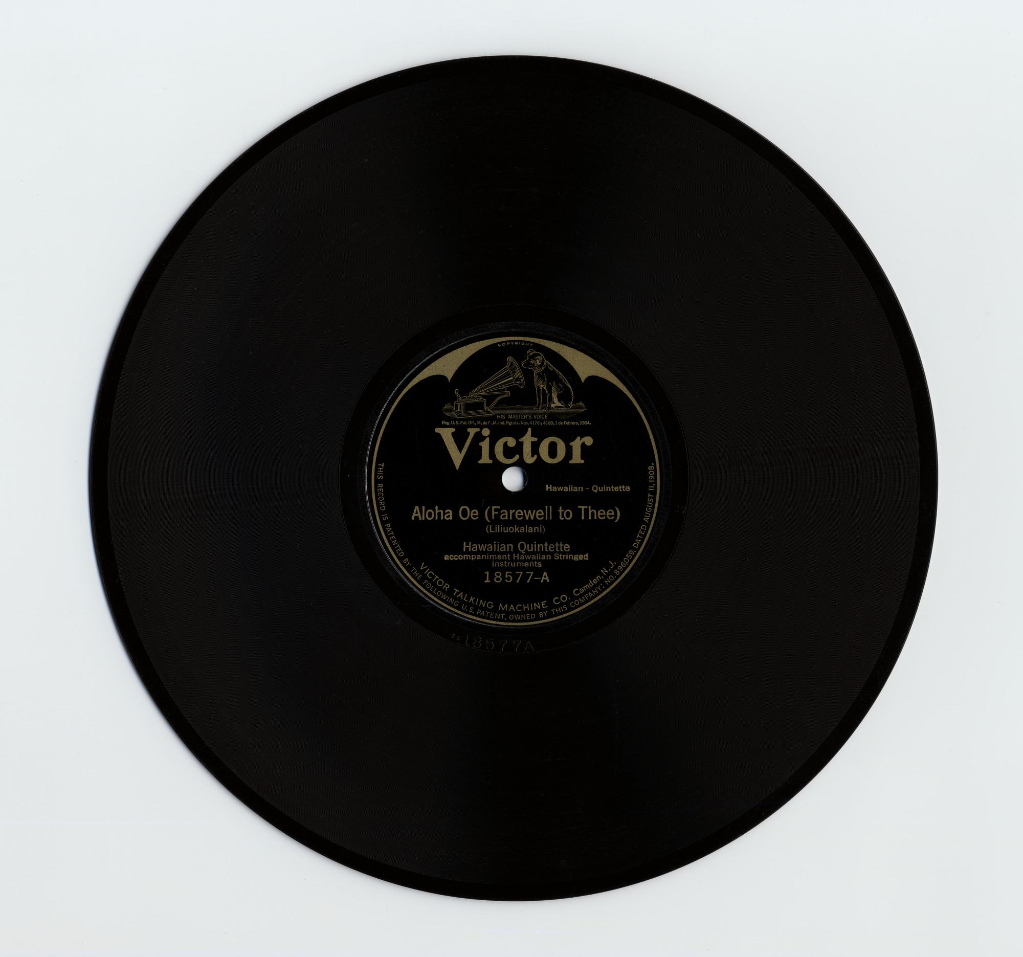 Image 1 for sound recording: Aloha Oe (Farewell To Thee); Kuu Home (Native Plantation Song)