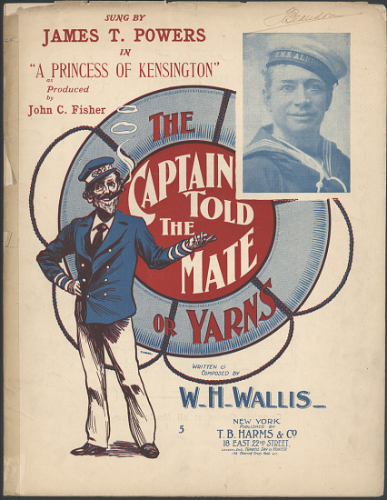 The Captain Told The Mate Sheet Music Smithsonian Institution