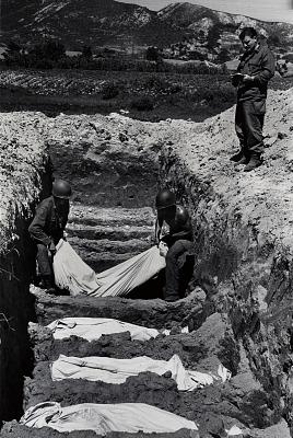 Korean War - Burial of American Dead