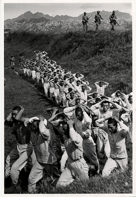North Korean soldiers taken by U.S. Marines during the fighting for Yong Dong