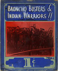 """Broncho Busters & Indian Warriors!!"" Mutoscope Movie Poster"