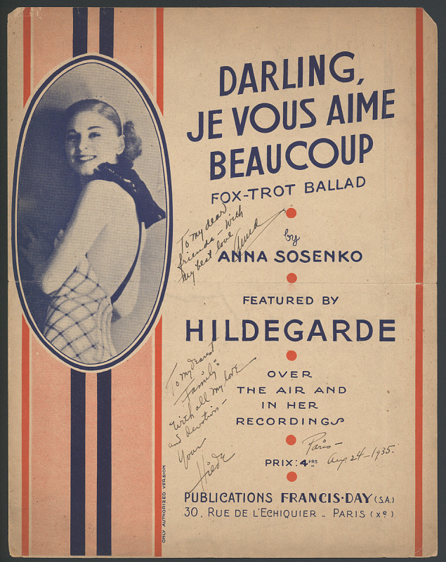 """Image for """"Darling, Je Vous Aime Beaucoup"""""""