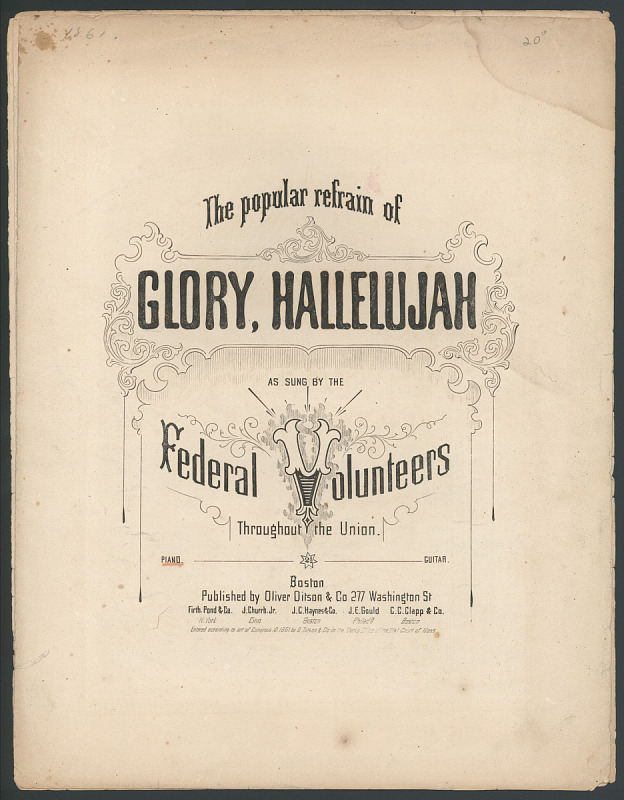 "Image for ""Glory, Hallelujah"" Sheet Music"
