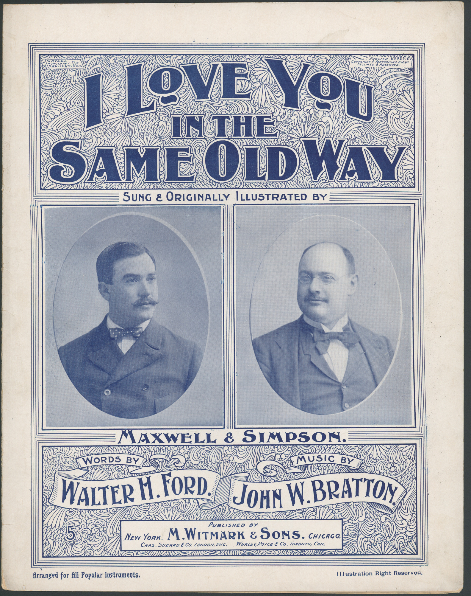 "images for ""I Love You in the Same Old Way"" Sheet Music"