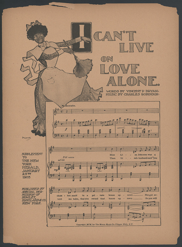 """Image for """"I Can't Live on Love Alone"""""""