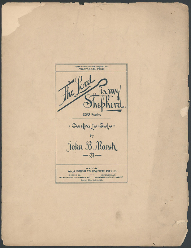"""Image for """"The Lord Is My Shepherd (23rd Psalm)"""" Sheet Music"""