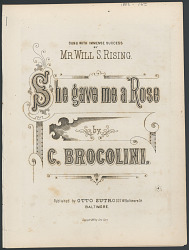 """She Gave Me a Rose"" Sheet Music"