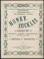 """Where the Honey Suckles Grow"" Sheet Music"
