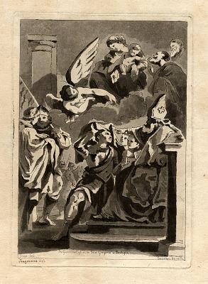 Saint Receiving Monk's Habit