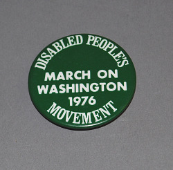 button, Disabled People's Movement