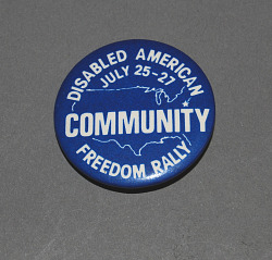 button, Disabled American Freedom Rally