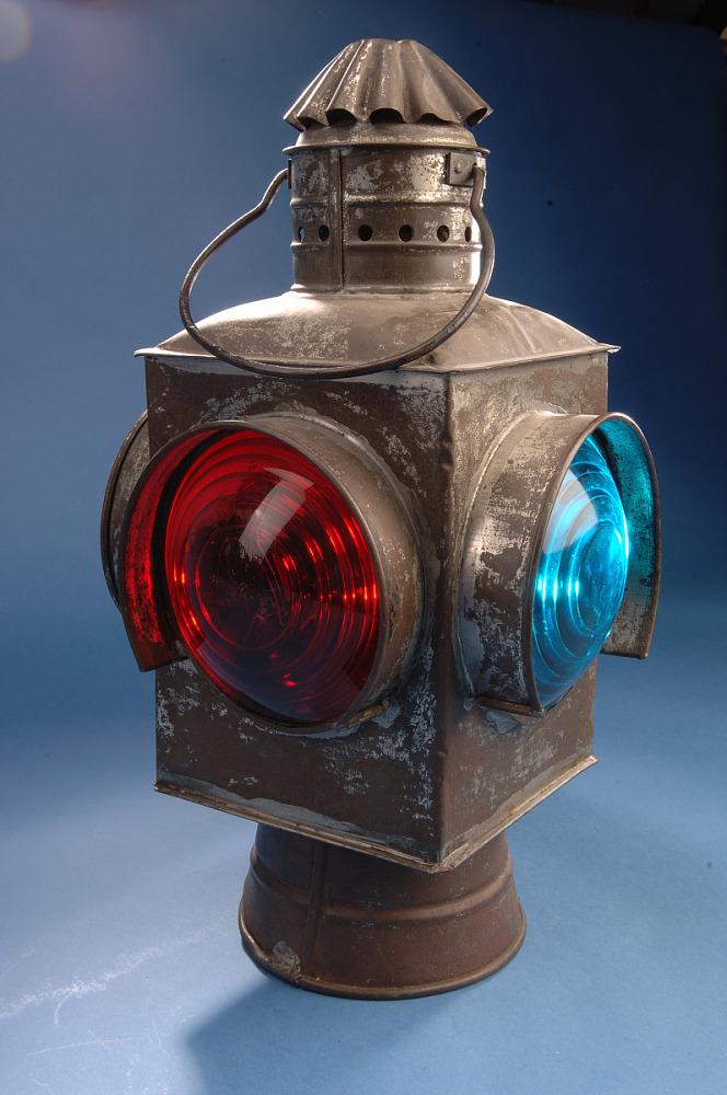 Railroad Switch Lamp Ca 1900 1940s, Train Lantern Lamp