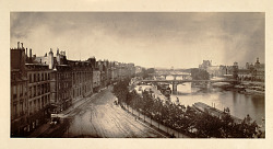 von Martens Panoramic View of the River Seine