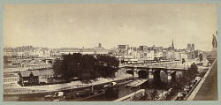 von Martens Panoramic View down the River Seine