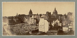 von Martens Panoramic View of Paris Neighborhood with Ruins