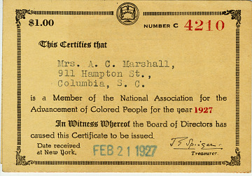 Member of the National Association for the Advancement of Colored People