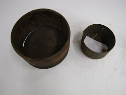wooden container with metal insert