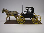 wagon, horse drawn, with horse