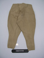 Olive Drab Cotton Breeches, WWI Enlisted