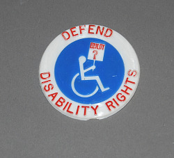 button, Defend Disability Rights