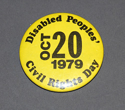 civil rights' button collection