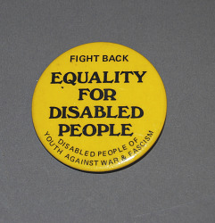 button, Equality for Disabled People