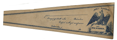 Prescription Label, Adler Apotheke von F. W. Weber