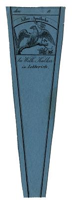 Prescription Label, Adler Apotheke bei With Kalker in Lobberich