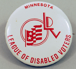 button, Minnesota League of Disabled Voters