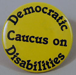 button, Democratic Caucus on Disabilities