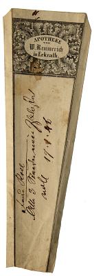 Prescription Label, Apotheke von W. Rcmmerich in Erkrath