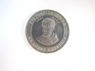 William H. Harrison Cracker Jack Coin