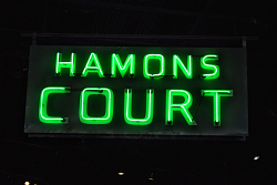 """Hamons Court"" Neon Sign"
