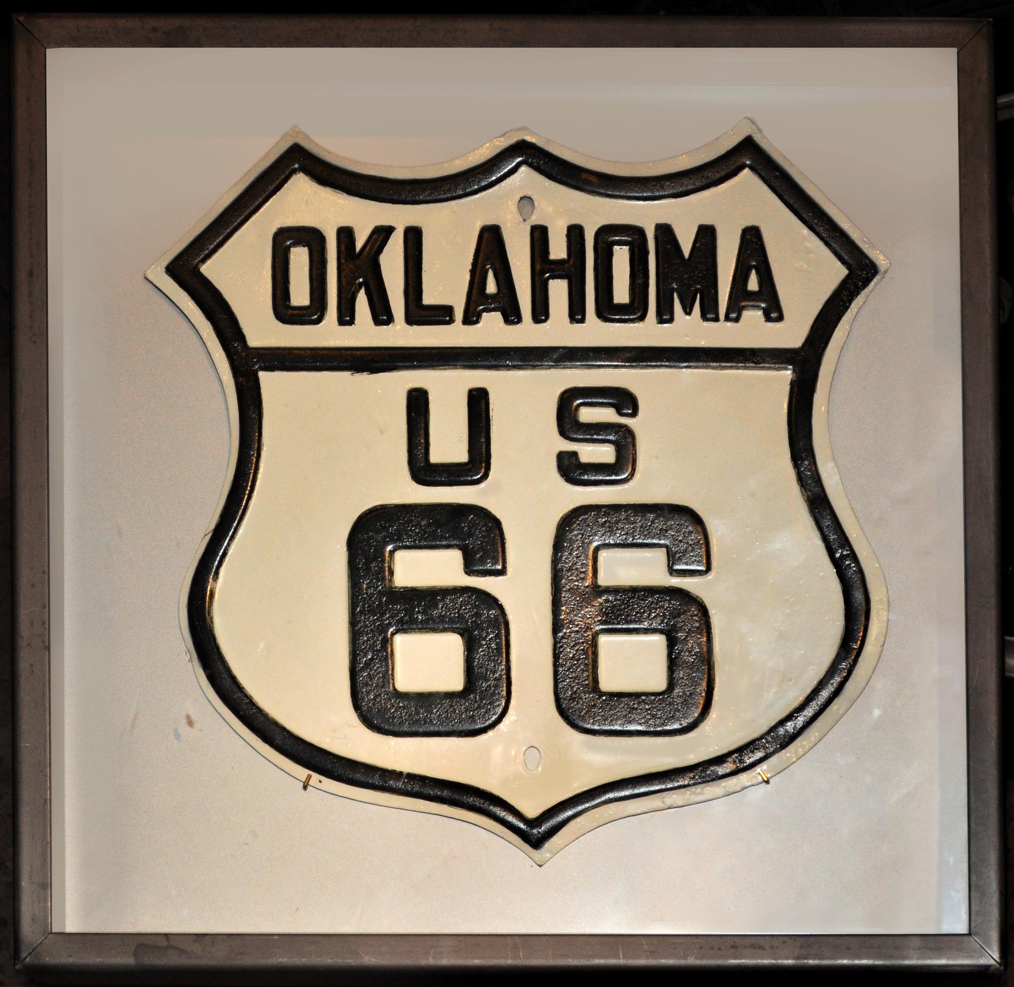 U.S. 66 route marker, 1930s