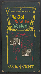 """""""He Got What He Wanted"""" mutoscope movie poster"""