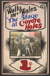 """""""The Stage at Coyote Holes"""" Mutoscope Movie Poster"""