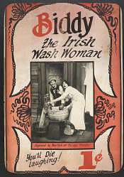"""Biddy the Irish Wash Woman"" Mutoscope Movie Poster"