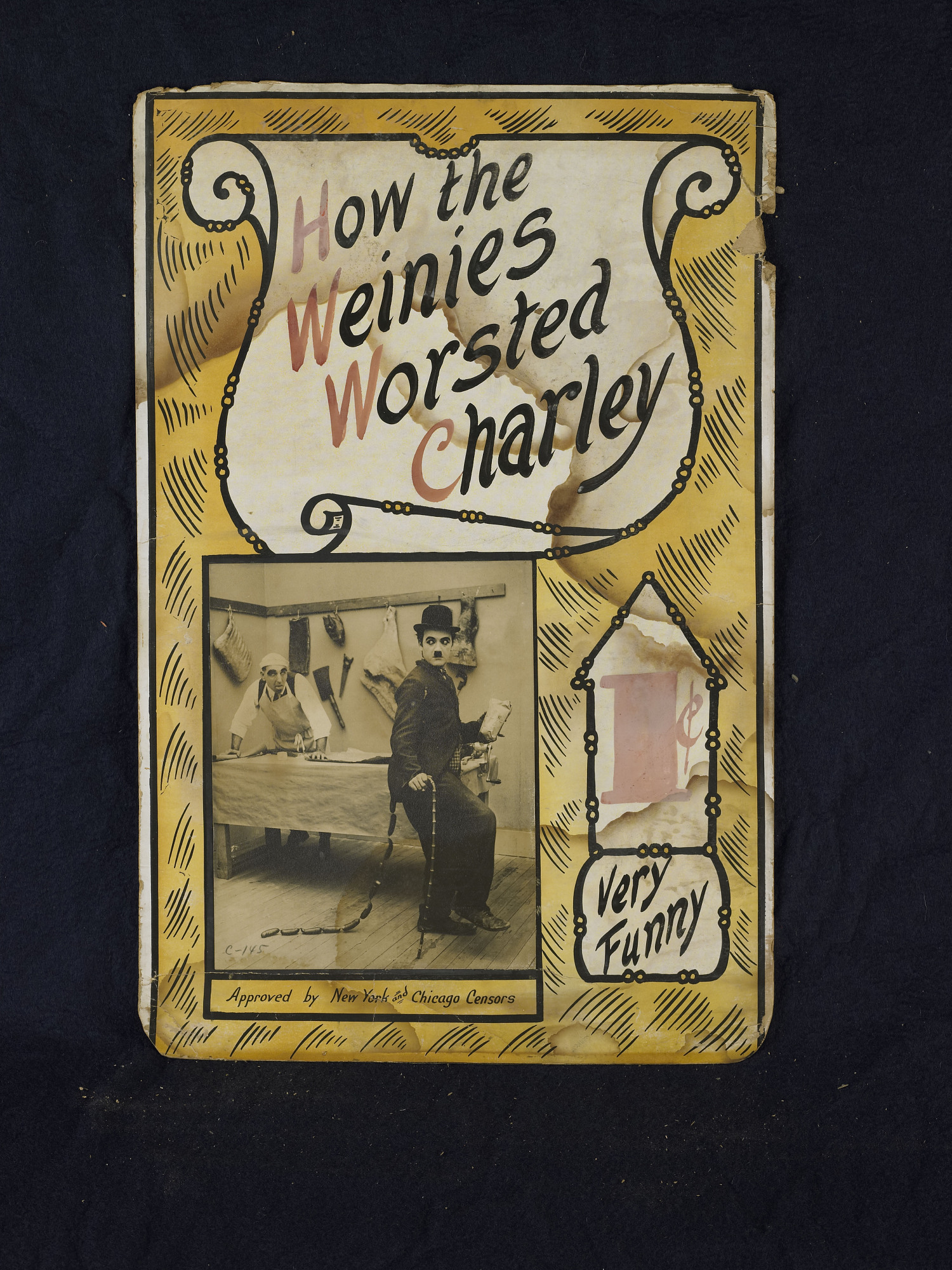 """images for """"How the Weinies Worsted Charley"""" Mutoscope Movie Poster"""
