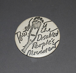 button, Power to the Disabled People's Movement
